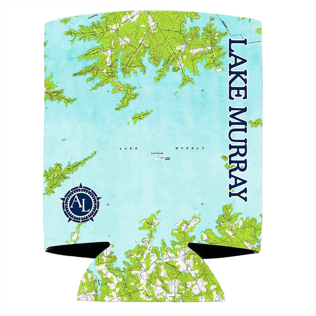 Altered Latitudes Lake Murray, SC Chart Standard Can Cooler (4-Pack)