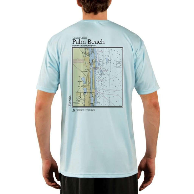 Coastal Classics Palm Beach Mens Upf 5+ Uv/sun Protection Performance T-Shirt Arctic Blue / X-Small Shirt