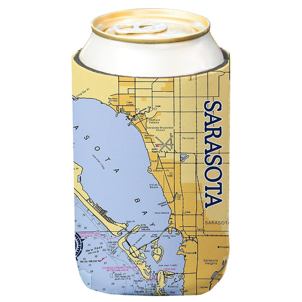 Altered Latitudes Sarasota Chart Standard Can Cooler (4-Pack)