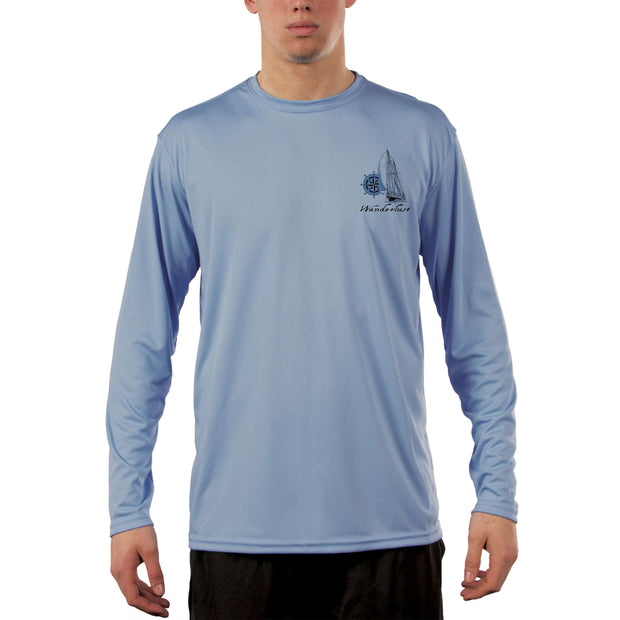 Island Lifestyle Wanderlust Men's UPF 50+ UV Sun Protection Long Sleeve T-Shirt