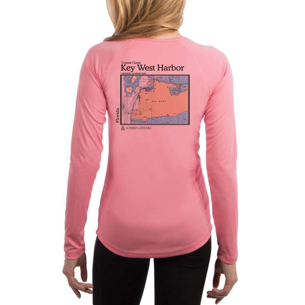 Coastal Classics Key West Harbor Womens Upf 5+ Uv/sun Protection Performance T-Shirt Pretty Pink / X-Small Shirt