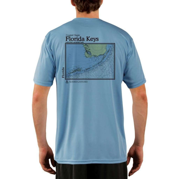 Coastal Classics Florida Keys Mens Upf 5+ Uv/sun Protection Performance T-Shirt Columbia Blue / X-Small Shirt