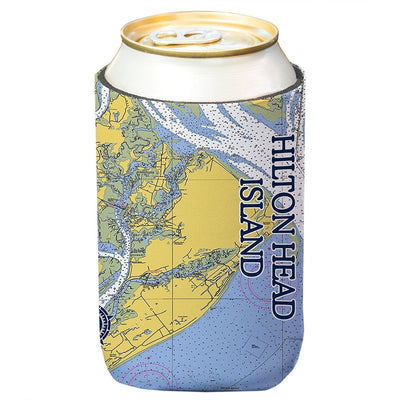 Altered Latitudes Hilton Head Chart Standard Can Cooler (4-Pack)