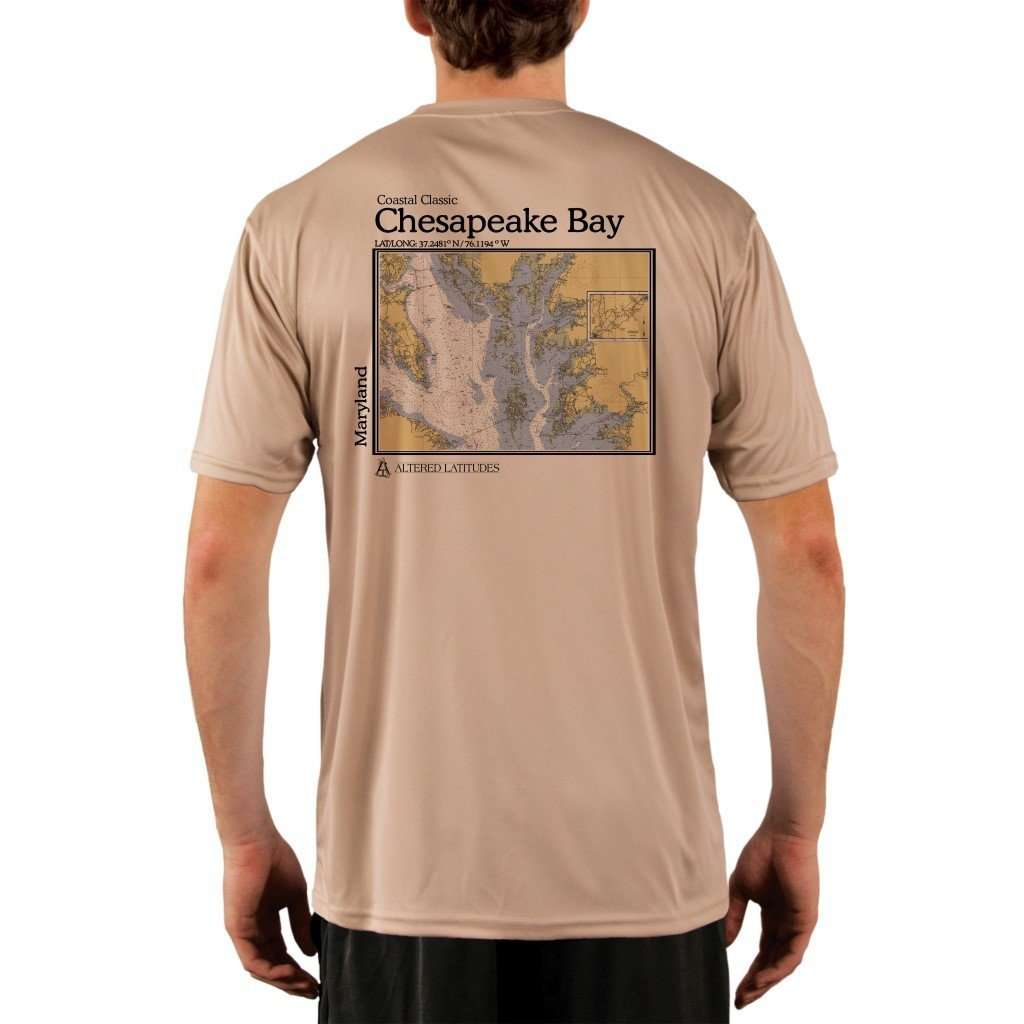 Coastal Classics Chesapeake Bay Mens Upf 50+ Uv/sun Protection Performance T-Shirt Tan / X-Small Shirt