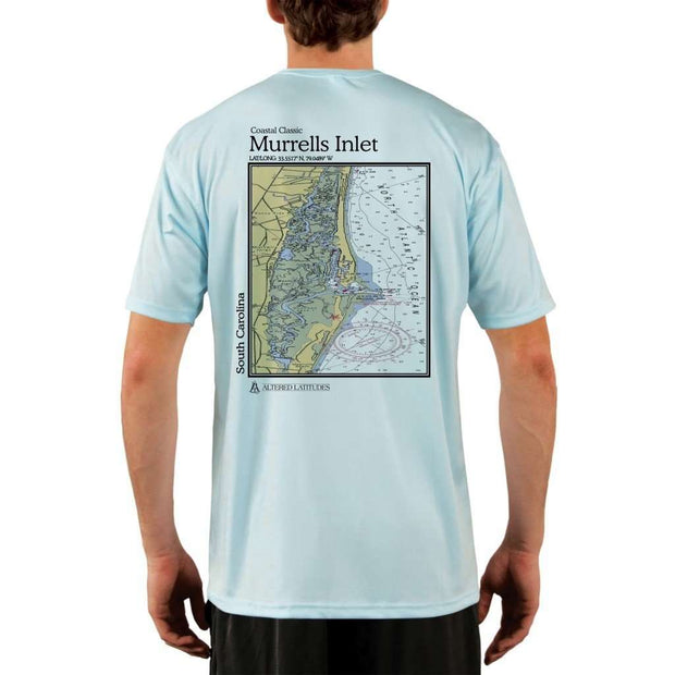Coastal Classics Murrells Inlet Mens Upf 5+ Uv/sun Protection Performance T-Shirt Arctic Blue / X-Small Shirt