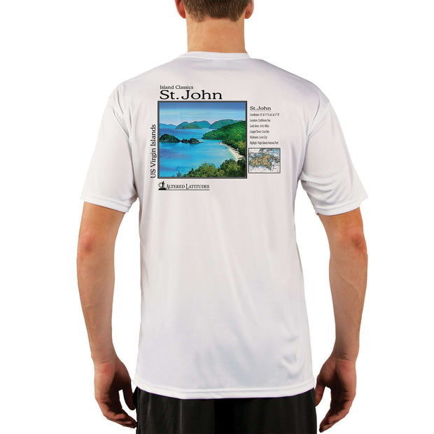 Island Classics St. John Men's UPF 50+ UV Sun Protection Short Sleeve T-shirt