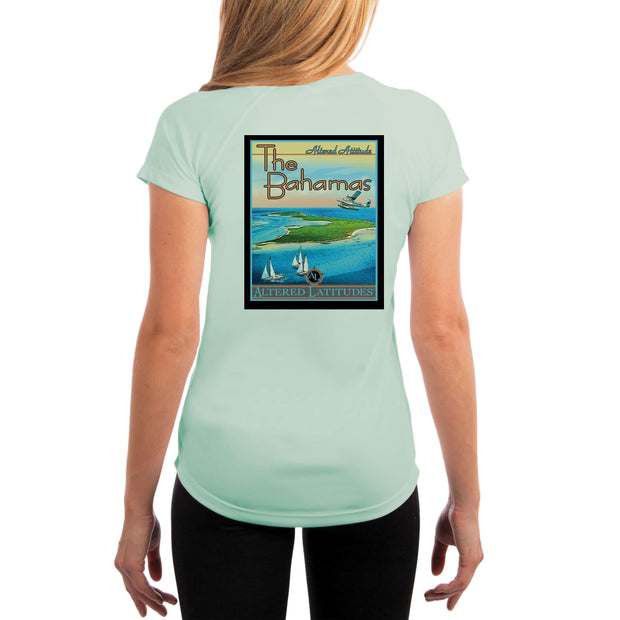 Vintage Destination The Bahamas Women's UPF 5+ UV Sun Protection Short Sleeve T-shirt - Altered Latitudes