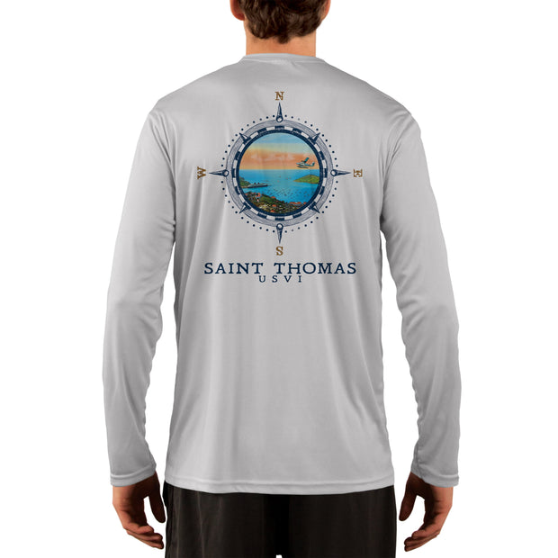 Compass Vintage Saint Thomas Men's UPF 50+ Long Sleeve T-Shirt