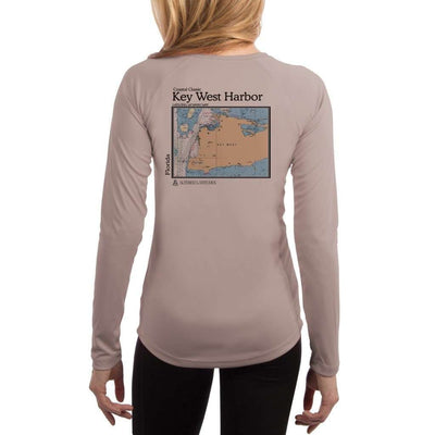 Coastal Classics Key West Harbor Womens Upf 5+ Uv/sun Protection Performance T-Shirt Athletic Grey / X-Small Shirt