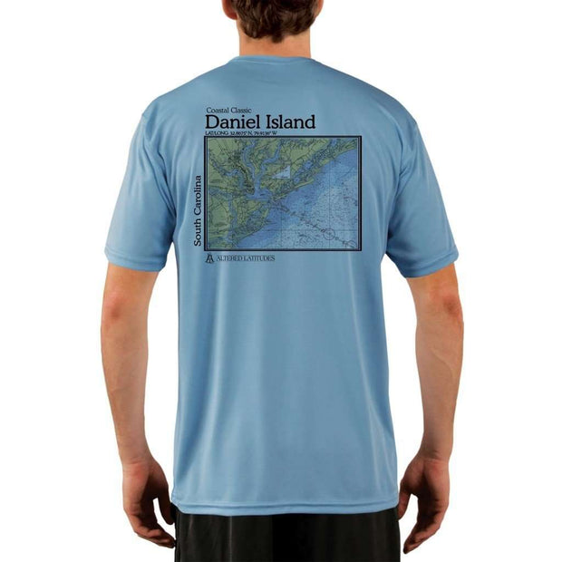 Coastal Classics Daniel Island Mens Upf 5+ Uv/sun Protection Performance T-Shirt Columbia Blue / X-Small Shirt