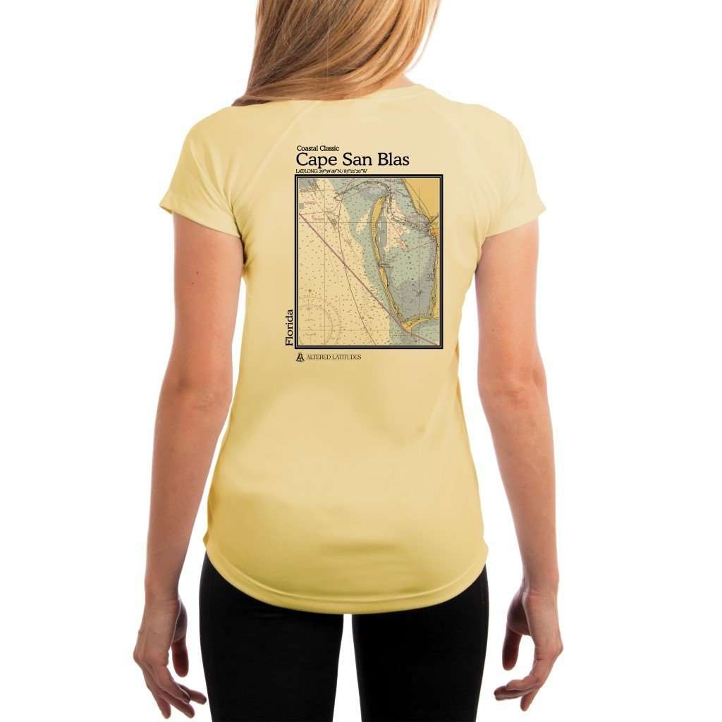 Coastal Classics Cape San Blas Womens Upf 50+ Uv/sun Protection Performance T-Shirt Pale Yellow / X-Small Shirt