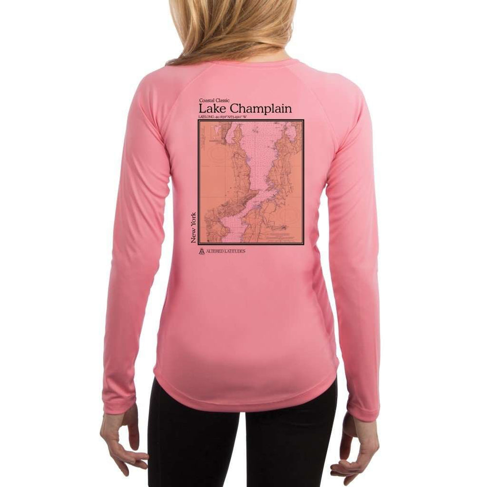 Coastal Classics Lake Champlain Womens Upf 5+ Uv/sun Protection Performance T-Shirt Pretty Pink / X-Small Shirt
