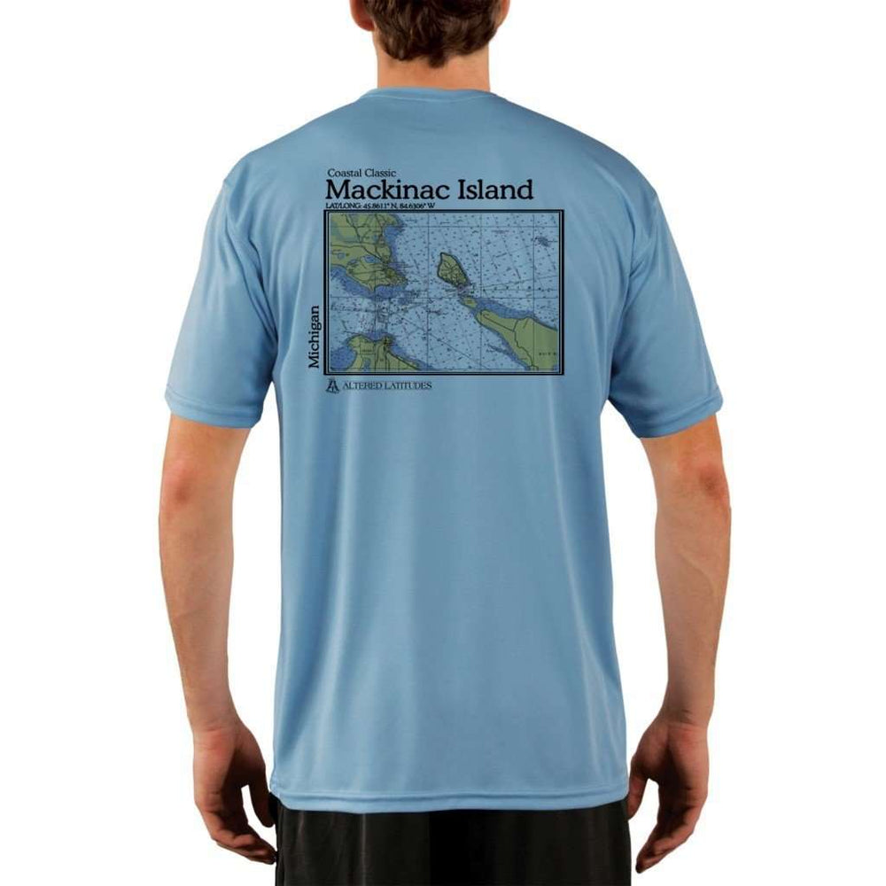 Coastal Classics Mackinac Island Mens Upf 5+ Uv/sun Protection Performance T-Shirt Columbia Blue / X-Small Shirt