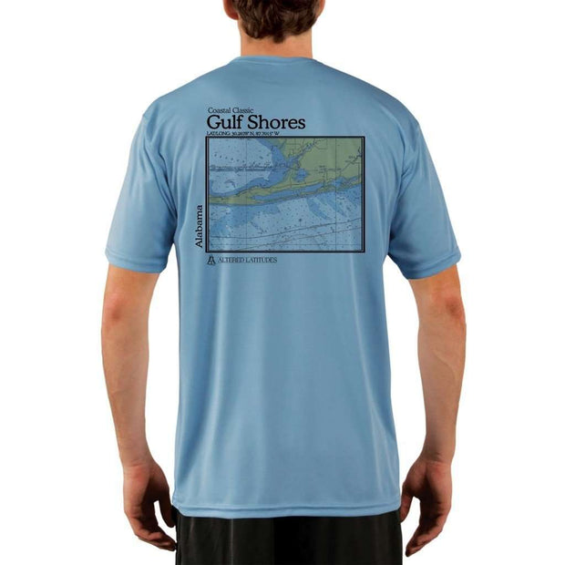 Coastal Classics Gulf Shores Mens Upf 5+ Uv/sun Protection Performance T-Shirt Columbia Blue / X-Small Shirt