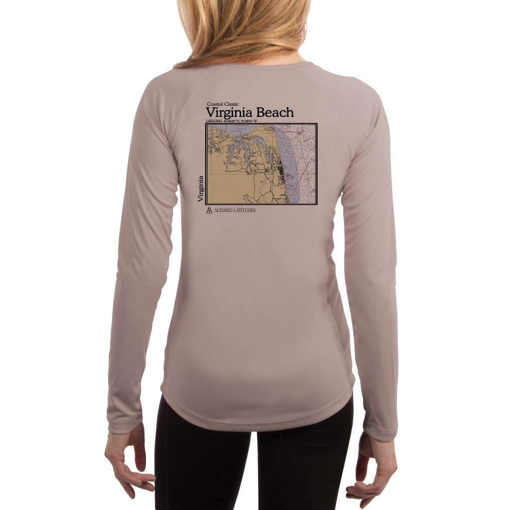 Coastal Classics Virginia Beach Womens Upf 5+ Uv/sun Protection Performance T-Shirt Athletic Grey / X-Small Shirt