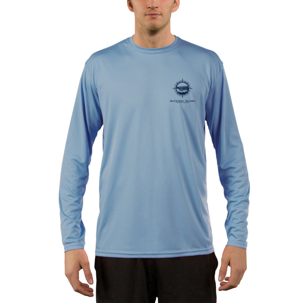 Compass Vintage Mackinac Island Men's UPF 50+ Long Sleeve T-Shirt