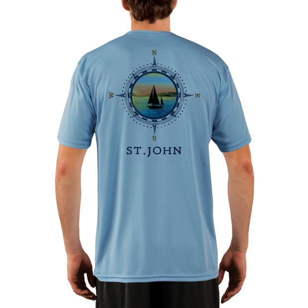 Compass Vintage St.John Men's UPF 50+ Short Sleeve T-shirt