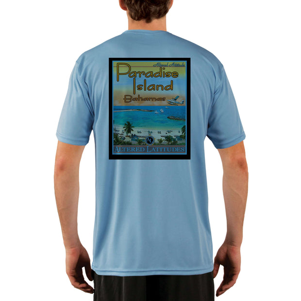 Vintage Destination Paradise Island Men's UPF 5+ UV Sun Protection Short Sleeve T-shirt - Altered Latitudes