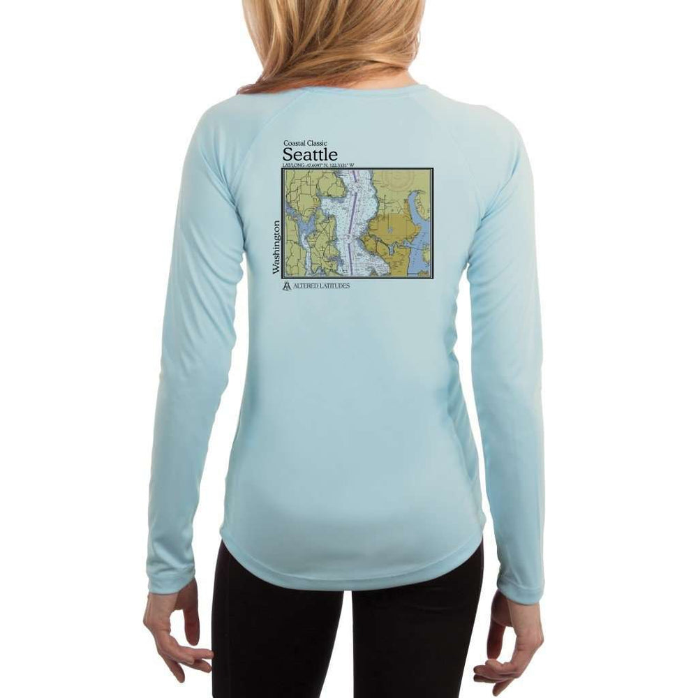 Coastal Classics Seattle Womens Upf 5+ Uv/sun Protection Performance T-Shirt Arctic Blue / X-Small Shirt