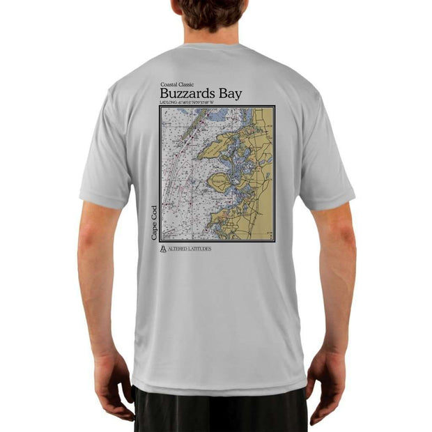 Coastal Classics Buzzards Bay Mens Upf 5+ Uv/sun Protection Performance T-Shirt Pearl Grey / X-Small Shirt