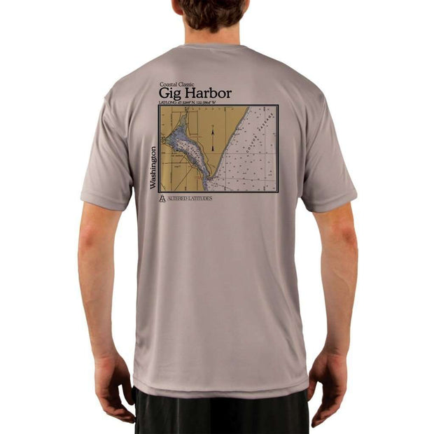 Coastal Classics Gig Harbor Mens Upf 5+ Uv/sun Protection Performance T-Shirt Athletic Grey / X-Small Shirt