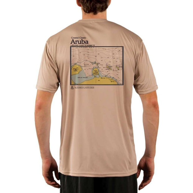 Coastal Classics Aruba Mens Upf 5+ Uv/sun Protection Performance T-Shirt Tan / X-Small Shirt