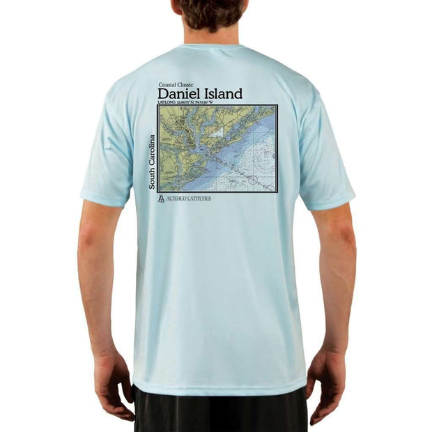 Coastal Classics Daniel Island Mens Upf 5+ Uv/sun Protection Performance T-Shirt Arctic Blue / X-Small Shirt