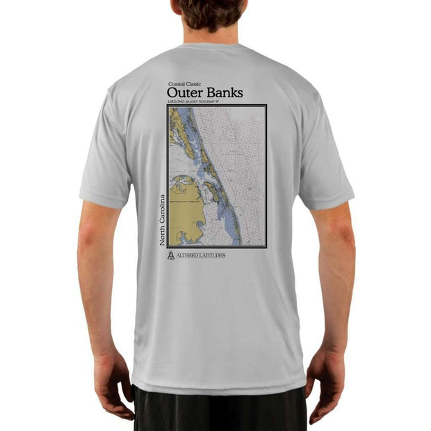 Coastal Classics Outer Banks Mens Upf 5+ Uv/sun Protection Performance T-Shirt Pearl Grey / X-Small Shirt