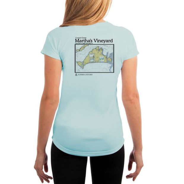 Coastal Classics Marthas Vineyard Womens Upf 5+ Uv/sun Protection Performance T-Shirt Arctic Blue / X-Small Shirt