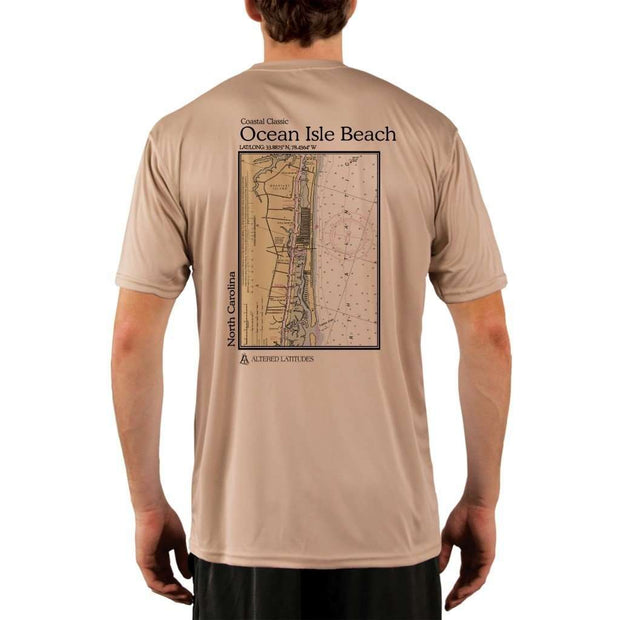 Coastal Classics Ocean Isle Beach Mens Upf 5+ Uv/sun Protection Performance T-Shirt Tan / X-Small Shirt