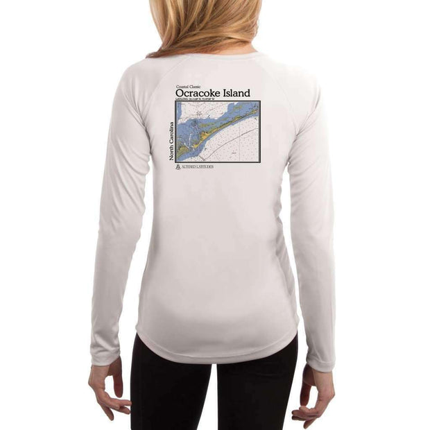 Coastal Classics Ocracoke Island Womens Upf 5+ Uv/sun Protection Performance T-Shirt White / X-Small Shirt