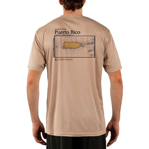 Coastal Classics Puerto Rico Mens Upf 5+ Uv/sun Protection Performance T-Shirt Tan / X-Small Shirt