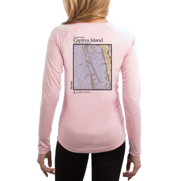 Coastal Classics Captiva Island Womens Upf 5+ Uv/sun Protection Performance T-Shirt Shirt