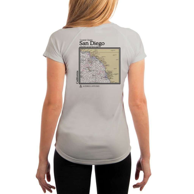 Coastal Classics San Diego Womens Upf 5+ Uv/sun Protection Performance T-Shirt Pearl Grey / X-Small Shirt