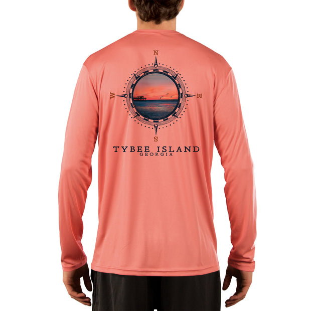 Compass Vintage Tybee Island Men's UPF 50+ Long Sleeve T-Shirt