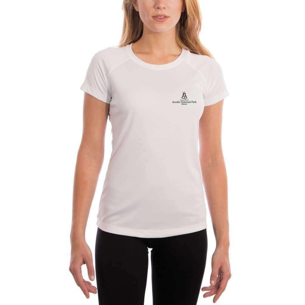 Coastal Classics Acadia National Park Womens Upf 5+ Uv/sun Protection Performance T-Shirt Shirt