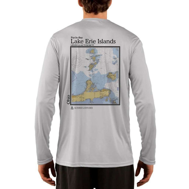 Coastal Classics Lake Erie Islands Mens Upf 5+ Uv/sun Protection Performance T-Shirt Pearl Grey / X-Small Shirt