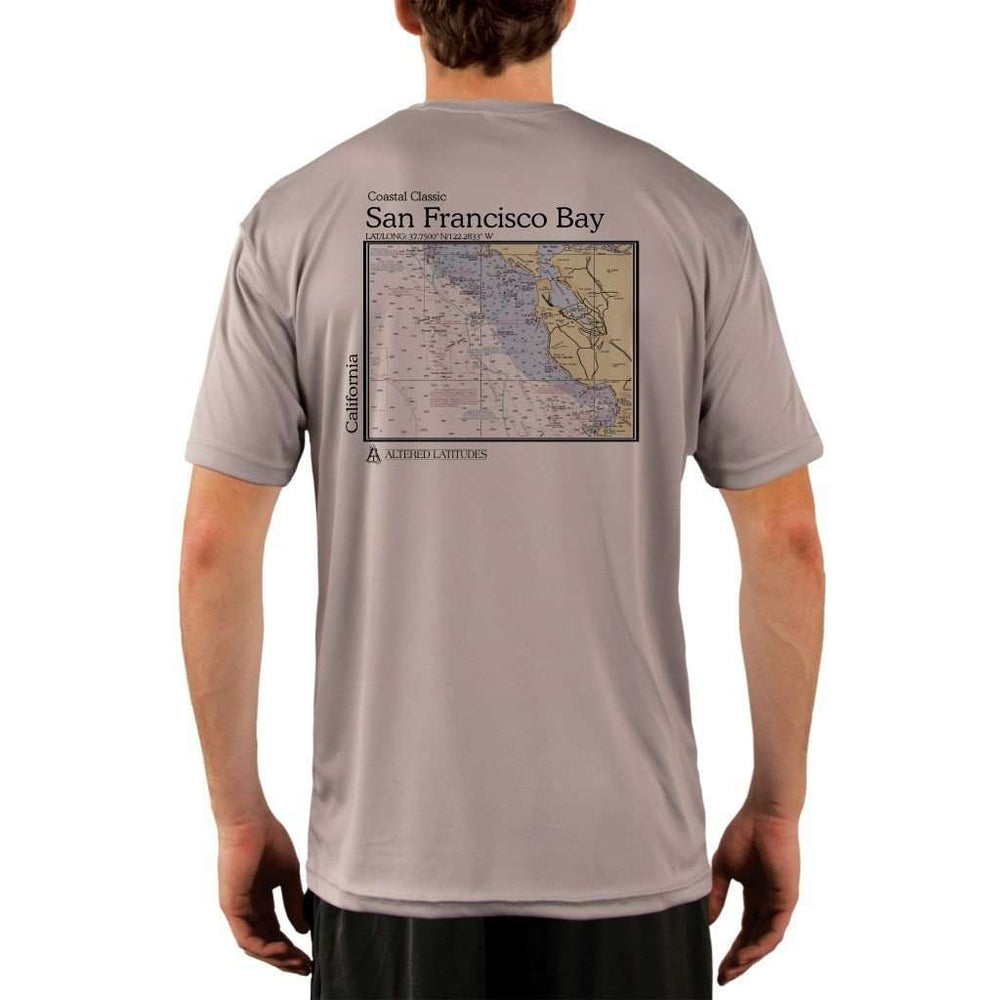 Coastal Classics San Francisco Bay Mens Upf 5+ Uv/sun Protection Performance T-Shirt Athletic Grey / X-Small Shirt