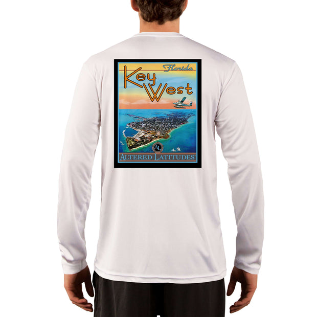Vintage Destination Key West Men's UPF 5+ UV Sun Protection Long Sleeve T-Shirt - Altered Latitudes