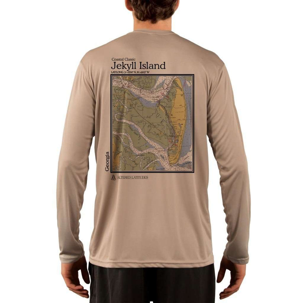 Coastal Classics Jekyll Island Mens Upf 5+ Uv/sun Protection Performance T-Shirt Tan / X-Small Shirt