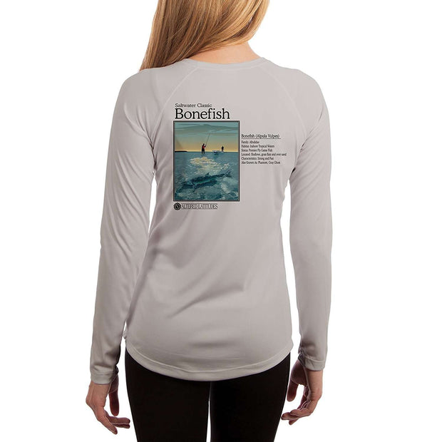 Saltwater Classic Bonefish Women's UPF 5+ Long Sleeve T-shirt - Altered Latitudes