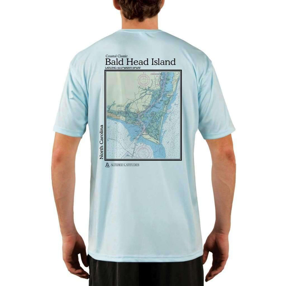 Coastal Classics Bald Head Island Mens Upf 5+ Uv/sun Protection Performance T-Shirt Arctic Blue / X-Small Shirt