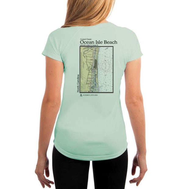 Coastal Classics Ocean Isle Beach Womens Upf 5+ Uv/sun Protection Performance T-Shirt Seagrass / X-Small Shirt