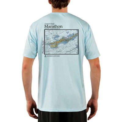 Coastal Classics Marathon Mens Upf 5+ Uv/sun Protection Performance T-Shirt Arctic Blue / X-Small Shirt