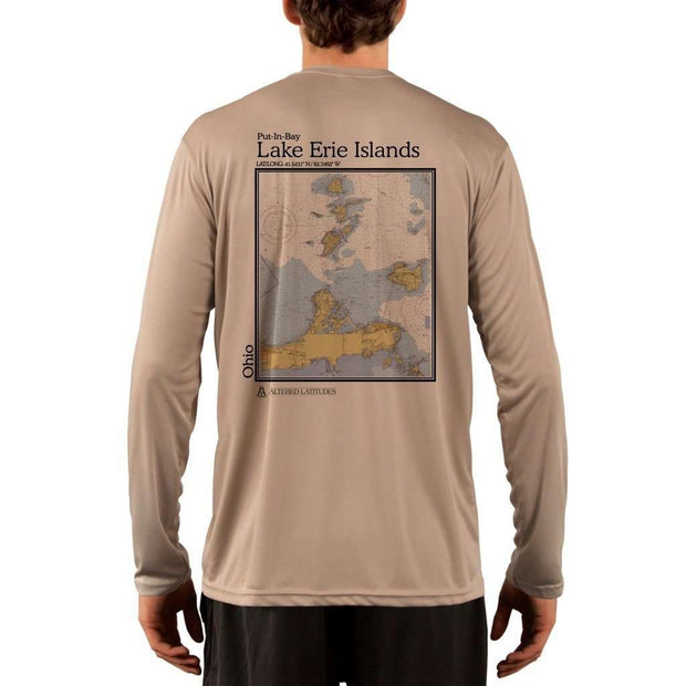 Coastal Classics Lake Erie Islands Mens Upf 5+ Uv/sun Protection Performance T-Shirt Tan / X-Small Shirt