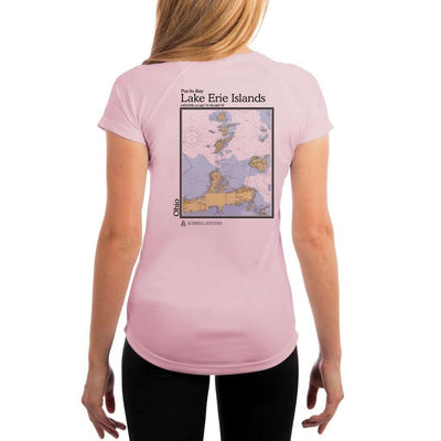 Coastal Classics Lake Erie Islands Womens Upf 5+ Uv/sun Protection Performance T-Shirt Pink Blossom / X-Small Shirt