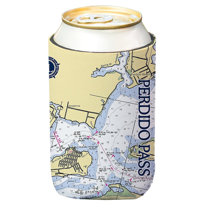 Altered Latitudes Perdido Pass Chart Standard Can Cooler (4-Pack)
