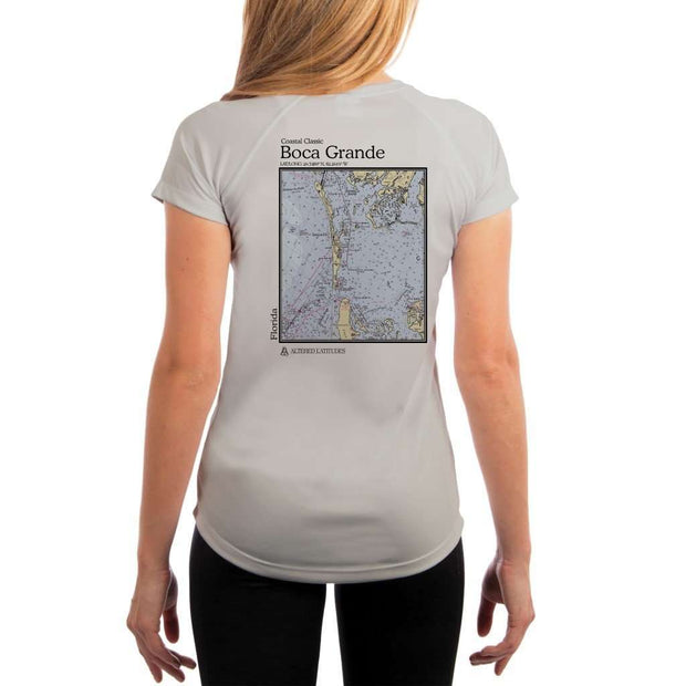 Coastal Classics Boca Grande Womens Upf 5+ Uv/sun Protection Performance T-Shirt Pearl Grey / X-Small Shirt