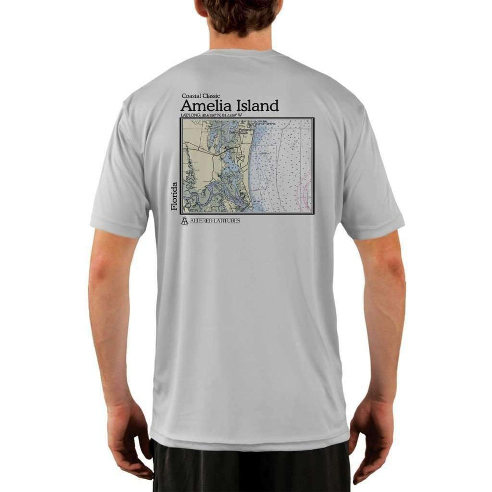 Coastal Classics Amelia Island Mens Upf 5+ Uv/sun Protection Performance T-Shirt Pearl Grey / X-Small Shirt