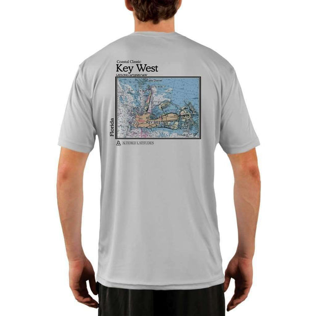 Coastal Classics Key West Mens Upf 5+ Uv/sun Protection Performance T-Shirt Pearl Grey / X-Small Shirt